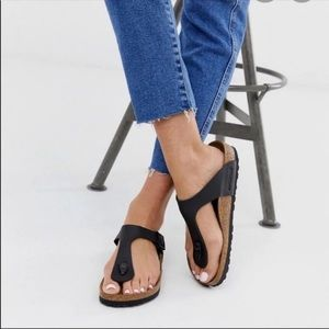 Birkenstock Gizeh🔴black sandals 40